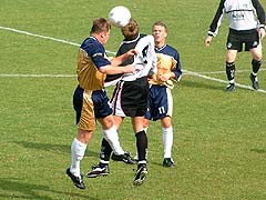 Gareth Hall clashes with Chris Brindley